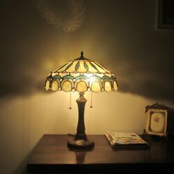 Tiffany Style Victorian 2 Bulb Stained Glass Table Desk Lamp Handcrafted $199.50