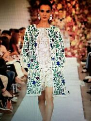 $3490 NWT OSCAR DE LA RENTA RUNWAY CROCHETED LACE ROMPER 2015 SPRING COLLECTION
