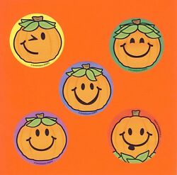 15 Jack O Lantern Pumpkin Faces Large Stickers Party Favors Halloween $2.50
