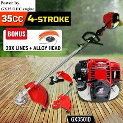 2 in 1 Grass cutter with 4 stroke Gx35 Engine Brush cutter Petrol strimmer Tree