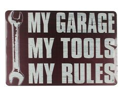 my garage my tools my rules tin metal sign metal retro rustic signs $15.75