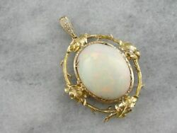 Collectors Quality Large Opal and Diamond Statement Pendant