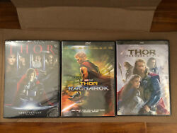 Marvel THOR DVD Trilogy Thor The Dark World Thor Ragnarok DVD NEW