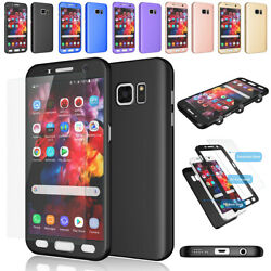 For Samsung Galaxy S7  S7 Edge 360° Full Body Hard Case +Screen Protector Cover