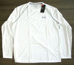 Under Armour Men#x27;s Long Sleeve Tech Tee Shirt 1264088 White Sm 4xl $19.99