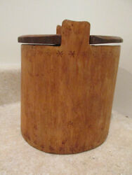 S25 antique wooden treenware salt box kitchen salt box storage salt box