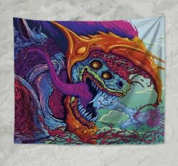 contemporary wall art beast psychedelic trippy art wall tapestry $17.99