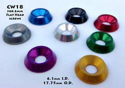 M6 Anodized Aluminum Beauty Washers for 6mm Flat Head Screws 10 Pack . 18mm Dia. $13.99