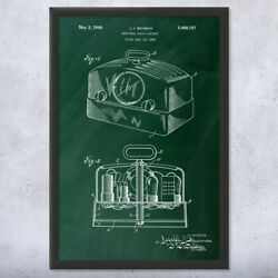 Framed Radio Print Antique Stereo Audiophile Audio Engineer Gift Music Lover