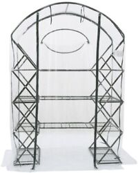 FlowerHouse Greenhouse 6 ft. 5 in. x 4 ft. 5 in. Portable Zipper Closure Clear