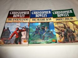 Lot of 3 Paperback Books by Christopher Rowley Arna Trilogy Books 1-3
