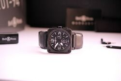 BELL & ROSS CHRONOGRAPH BR01-94 BLACK PVD COMPLETE SET