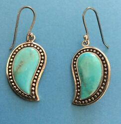 Gorgeous Sterling Silver Turquoise Thailand Earrings 9 Grams