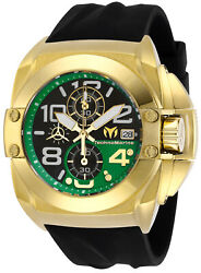 Technomarine TM-518002 NEW 2019 Reef Gold With Green Dial and Black Strap!