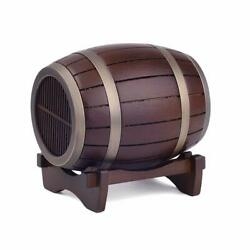 Wooden Wine Barrel Wireless Bluetooth Speaker Portable Retro - Unique Gift!