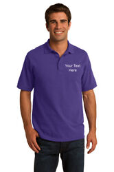 Personalized Embroidered Emblem Men Polo Shirt Custom For Work Uniform $19.00
