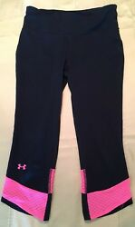 Under Armour UA Fly-By Compression Capri Pants Breast Cancer She's A Fighter S