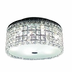 Glam Cobalt 3-light Brushed Chrome Ceiling Light by Hampton Bay