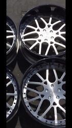 26 Inch STAGGERED BRUSHED FACE  5x4 34 Chrome Or Black Or Polish Lip