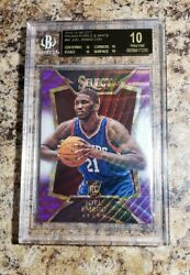 JOEL EMBIID 2014 Select PRIZM Purple And White RC BGS 10 BLACK LABEL Pop 1