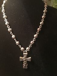 Authentic Chrome Hearts Sterling Silver Celtic Cross Necklace 1998!