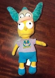 The Simpsons Bart Krusty The Clown Hat Foam Stuffed Plush Doll Nanco 2009