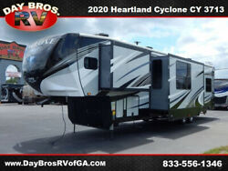 20 Heartland Cyclone CY 3713 RV Camper Towable 5th Wheel Toy Hauler 2 Slides