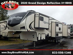 20 Grand Design Reflection 311BHS RV Camper Towable 5th Wheel 4 Slides Bunkhouse