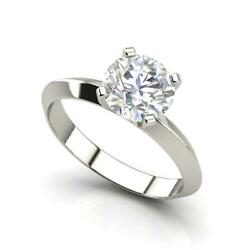 Knife Edge 2.5 Carat VS1H Round Cut Diamond Engagement Ring White Gold
