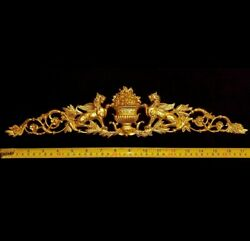 LARGE FRENCH ANTIQUE EMPIRE ONLAY GRIFFIN GOLD GILT DORE WALL APPLIQUE MOULDING GBP 23.95
