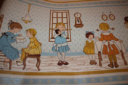 Vintage Holly Hobbie Wallpaper Novelty Blue Gold Crafts Girls Hobby Partial Roll $22.90