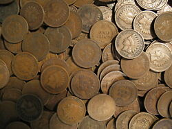LARGE COLLECTION OF INDIAN HEAD CENT PENNY COINS 1858-1909  OLD ESTATE SALE