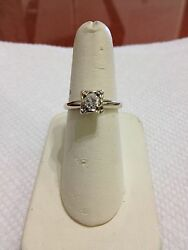 VINTAGE LADIES DIAMOND ENGAGEMENT RING EXCELLENT CONDITION NR