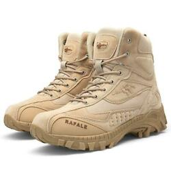 Desert Shoes Mens High Top Boots Military Tactical Combat Army Boots Outdoor NEW $49.12