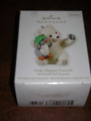 NIB HALLMARK ORNAMENT 2011 Snap Happy Friends Snowball and Tuxedo NEW KEEPSAKE