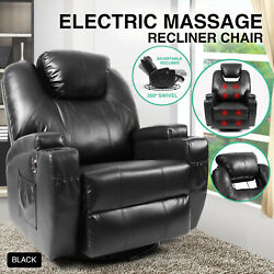 Electric Massage Recliner Sofa Rocker Chair Lounge Vibration Heated Ergonomic