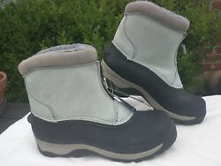 OZARK TRAIL Grey Blue Suede Water Proof Winter Insulated Fur DUCK BOOTS ZIP 10 $25.00