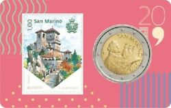 IN STOCK - SAN MARINO 2 Euro 2019 Stamp and Coin Card