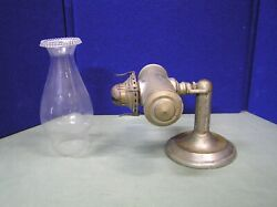 Antique Student Wall Or Table Lamp Marked Queen Anne $185.00