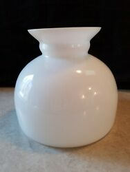 Vintage Antique Student Milk Glass  Lamp Shade Oil  Kerosene Lamp