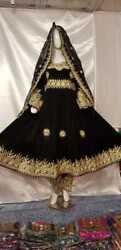 AFghan black color handmade hand embroidery kochi dress for sale.