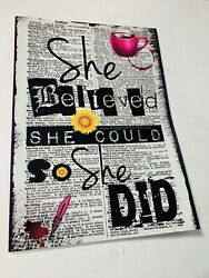 She Believed She Could So She Did Paperback by Mitchell-Jones Rogena ISBN ...