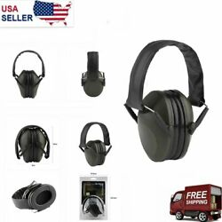 Ear Muffs Hearing Foldable Noise Reduction 21-30dB Protection Gun Shooting Range