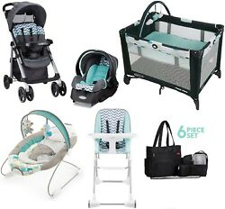 Baby Stroller Combo Travel System High Chair Playard Car Seat Bouncer Diaper Bag $499.99
