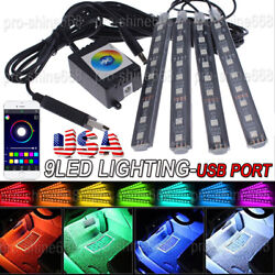 RGB LED Strip for Home Deco Car Interior Cabinets Boat Atmosphere Neon Light USA