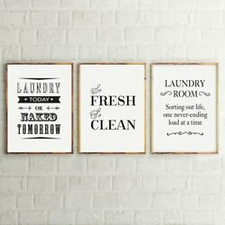 Laundry Room Wall Painting Art Decoration Life Canvas Print Laundry Sign Poster $7.89