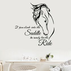 Horse Head Riding Quote Wall Art Stickers Decals Vinyl Decor Home Mural Room $7.16