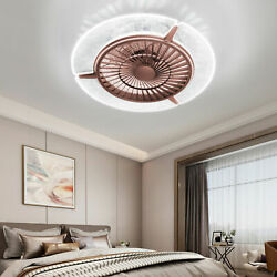 22quot; Ceiling Fan LED Light Modern Round Light Home Chandelier Lamp Remote Control $124.98