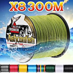 Braided fishing line 8 strands 300m Super Strong Japan Multifilament PE braid