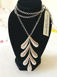 Lucky brand jewelry antique matte silver tone long necklace. Length: 16''